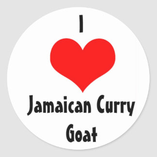 I Heart Jamaican Curry Goat Classic Round Sticker