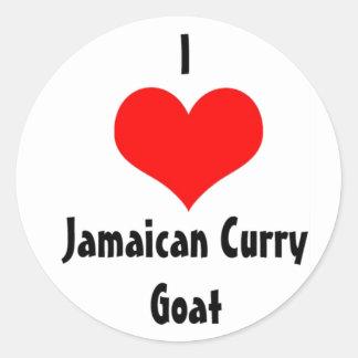 I Heart Jamaican Curry Goat Round Sticker