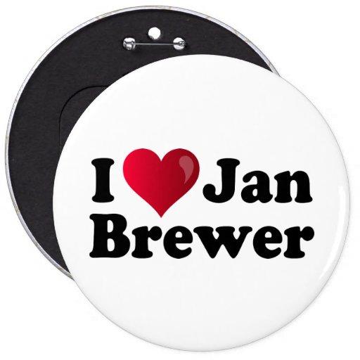 I Heart Jan Brewer Pinback Buttons
