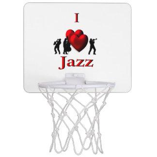 I Heart Jazz Mini Basketball Hoop