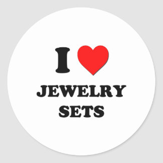 I Heart Jewelry Sets Round Stickers