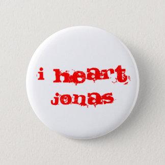 I HEART JONAS 6 CM ROUND BADGE