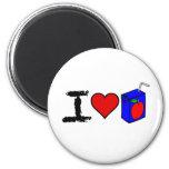 I Heart Juice Boxes Refrigerator Magnet