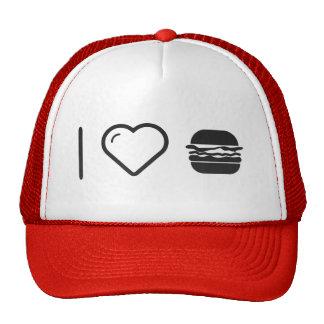 I Heart Jumbo Hamburgers Cap