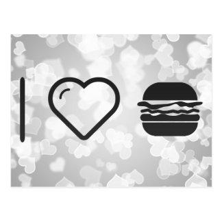I Heart Jumbo Hamburgers Postcard