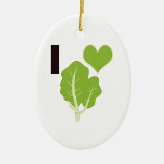 I heart Kale Ceramic Oval Decoration