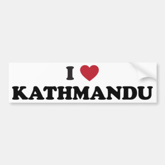 I Heart kathmandu Nepal Bumper Sticker