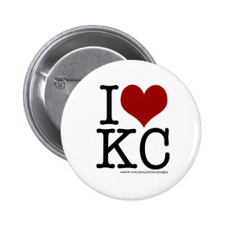 I HEART KC 6 CM ROUND BADGE