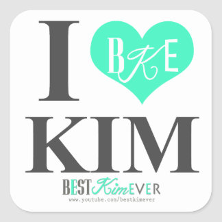 I heart Kim stickers (one sheet of 20 sm or 6 lrg)