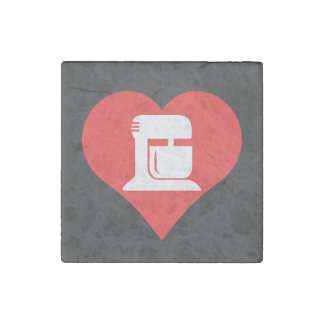 I Heart Kitchen Appliances Icon Stone Magnet