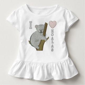 I Heart Koalas Fuzzy Animals T Shirt