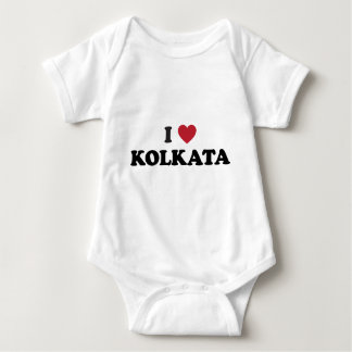I Heart Kolkata India Baby Bodysuit