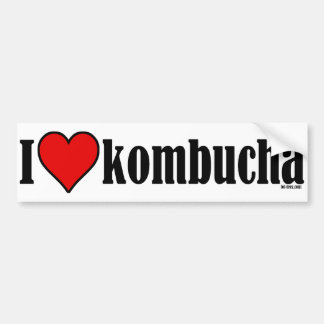 I Heart Kombucha Bumper Sticker