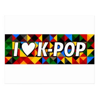 i heart korean pop postcard