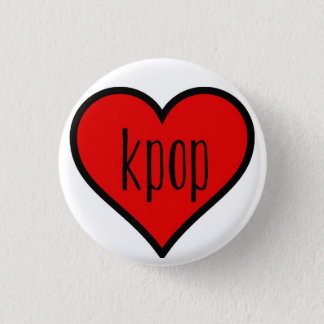 I heart kpop! 3 cm round badge