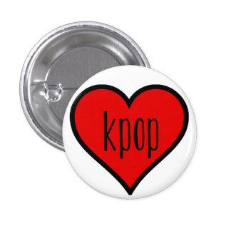 I heart kpop! 3 cm round badge