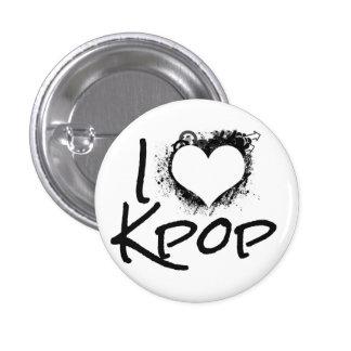 I Heart Kpop Button