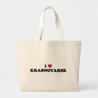 I Heart Krasnoyarsk Russia Jumbo Tote Bag