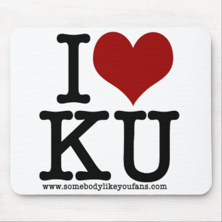 I Heart KU Mouse Pad