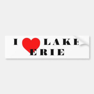 I heart Lake Erie Bumper Sticker