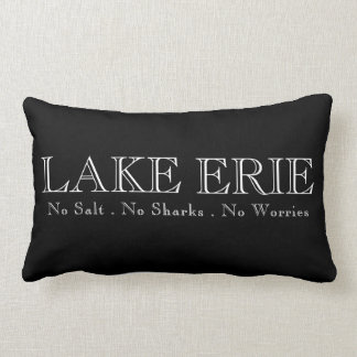 I heart LAKE ERIE Lumbar Pillow