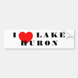 I heart lake  Huron Bumper Sticker