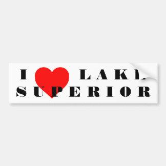I heart lake Superior Bumper Sticker
