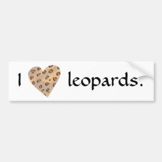 I heart leopards, Bumper stickers