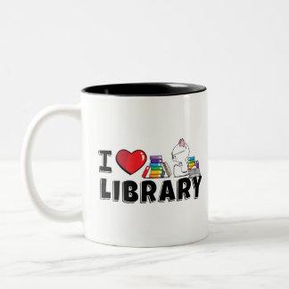 I Heart Library Mug