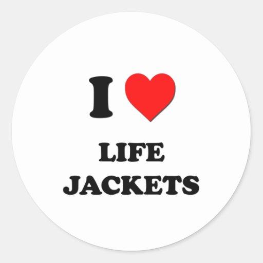 I Heart Life Jackets Stickers