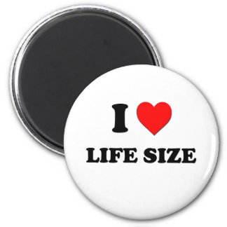 I Heart Life Size 6 Cm Round Magnet