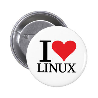 I Heart Linux 6 Cm Round Badge