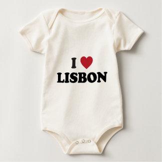 I Heart lisbon portugal Baby Bodysuit