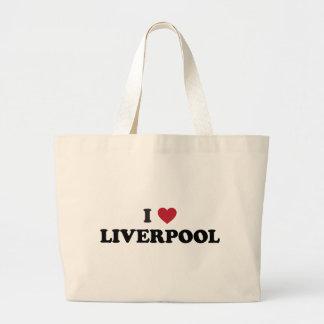 I Heart Liverpool England Jumbo Tote Bag