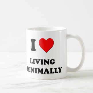 I Heart Living Minimally Coffee Mugs