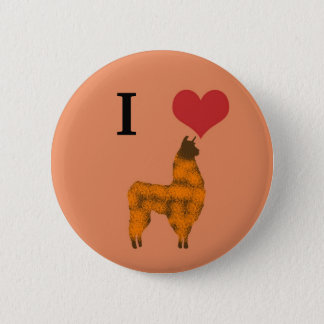 I heart llamas 6 cm round badge