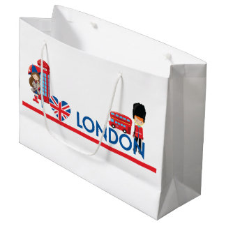 I Heart London With Phone Booth Bus and More Large Gift Bag