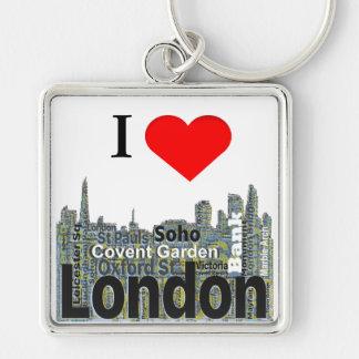 I Heart London Word Art Key Ring