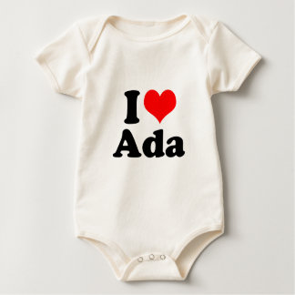 I Heart / Love Ada Baby Bodysuit