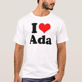 I Heart / Love Ada Wall Clock T-Shirt