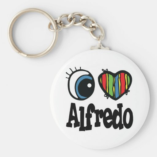 I Heart (Love) Alfredo Key Chain