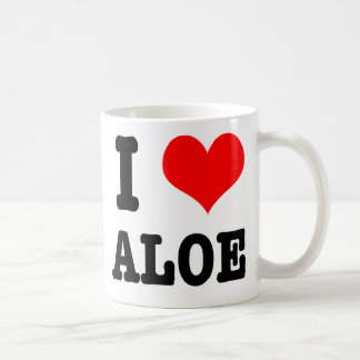 I HEART (LOVE) ALOE BASIC WHITE MUG