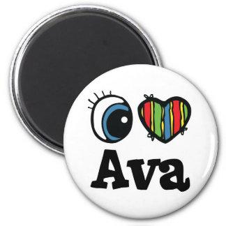 I Heart (Love) Ava 6 Cm Round Magnet