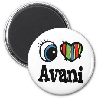 I Heart (Love) Avani 6 Cm Round Magnet
