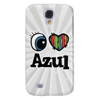I Heart (Love) Azul Samsung Galaxy S4 Cases