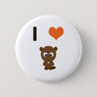 I heart (love)  Beavers 6 Cm Round Badge