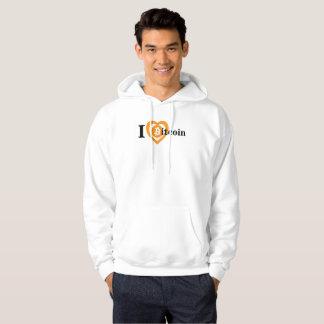 I Heart (Love) Bitcoin Logo Symbol Crypto Hoodie