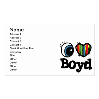 I Heart (Love) Boyd Pack Of Standard Business Cards