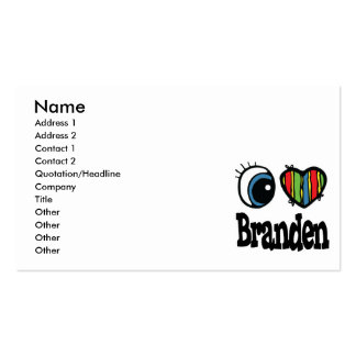 I Heart (Love) Branden Pack Of Standard Business Cards