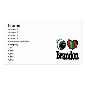 I Heart (Love) Brandon Pack Of Standard Business Cards